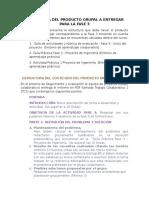 Estructura Del Producto Grupal a Entregar Para La Fase 3