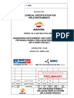 BPA-SP-I-0001 Technical Spec for Field Instruments