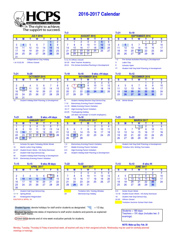 Hcps School Calendar Observances Holidays