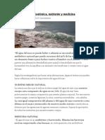 El Agua de Mar Isotónica Nutriente y Curativa