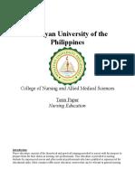 Term Paper Nursing Education
