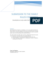 Submissions to Family Law Rules Committee