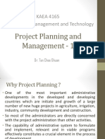 Lecture 1 - Project Planning and Management 1