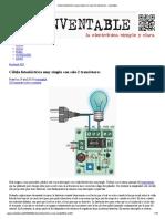 Célula Fotoeléctrica Muy Simple Con Solo 2 Transistores « Inventable