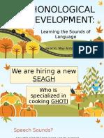 Phonological Development Report