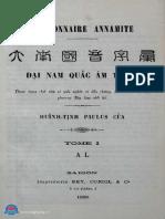 (1895) Đại Nam Quốc Âm Tự Vị - Vần A-L - Huỳnh Tịnh Của