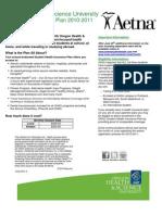OHSU Student Health Plan 2010