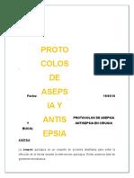 Protocolos de Asepsia y Antisepsia en Cirugia Bucal