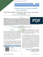 Mortalidad en Los Recién Nacidos Referidos a Hospitale Terciarios. Una Introspección