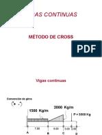 Vigas Continuas Present. metodo de cross