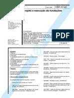 NBR 6122 - 1996 - Projeto e Execução de Fundações