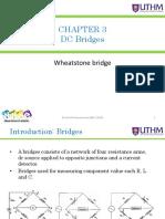 Bef 23903 - Chapter 3 - Dc Bridge - Wheatstone Bridge