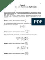 4 Fracciones algebraicas