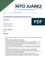 Delegación Benito Juárez - Constitución de Sociedad de Convivencia - 2014-01-12