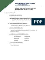 Implementacion de Casetas de Vigilancia en La Urb. Monzerrate 4ta Con El Recreo 2da Etapa