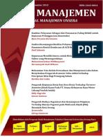Jurnal Sains Manajemen. Vol. 1 No. 2 JULI DES 2015