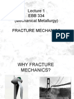 Fracture Mechanics 1 EBB 334