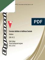 Corrosion Inhibitors in Antifreeze