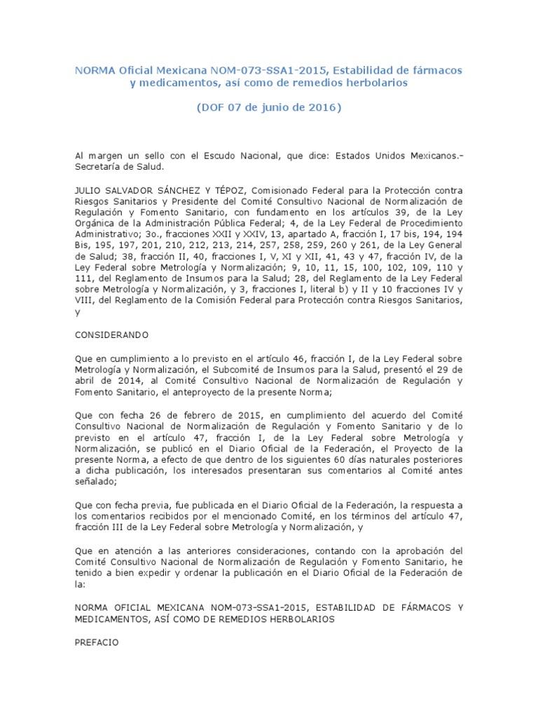 Norma oficial mexicana nom 093 pdf free
