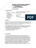 Universidad Nacional Jorge Basadre Grohman Final Silabus Teoria de La Historia