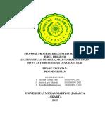 PKM P Analisis Situasi Pembelajaran Matematika (1)