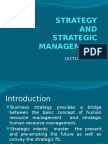 Lecture - 2 Strategy, and Sttrategic Management (2)