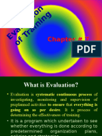 Chapter#7 (Evaluation of Training)