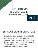 Estructuras Isostáticas e Hiperestáticas Resistencia de Materiles