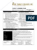English 7 Learning Plan