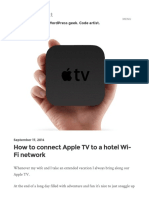 How to Connect Apple TV to a Hotel Wi-Fi Network