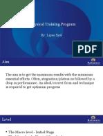 Physical Training Program-Lipsa Syal