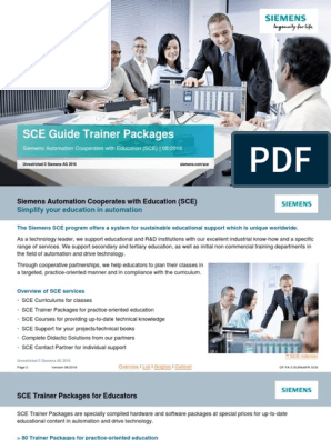 SCE Guide Trainer Pakete en Without Prices | Automation