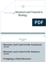 Matching Structure & Control to Strategy