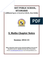 Doc 103 B.P.S. X Maths Chapter Notes 2014 15