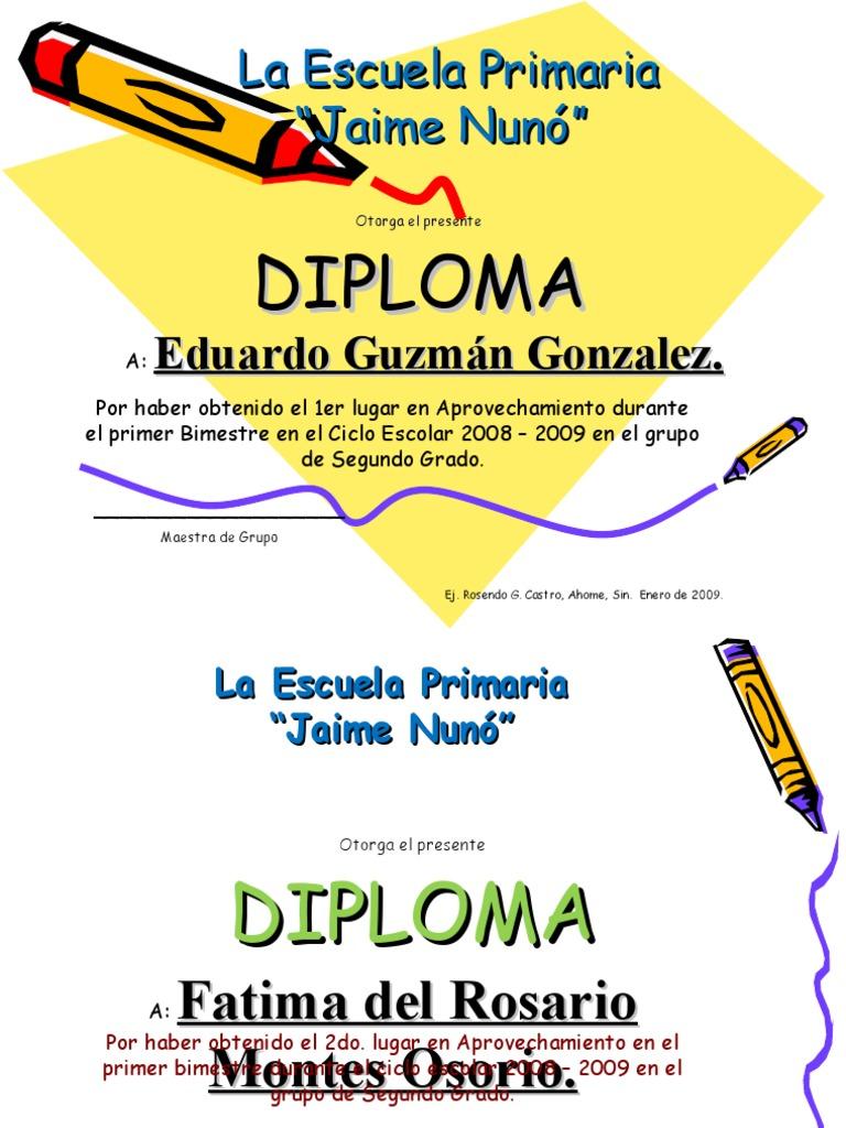 formato de reconocimiento escolar