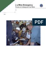 Underground Mine Emergency Guide