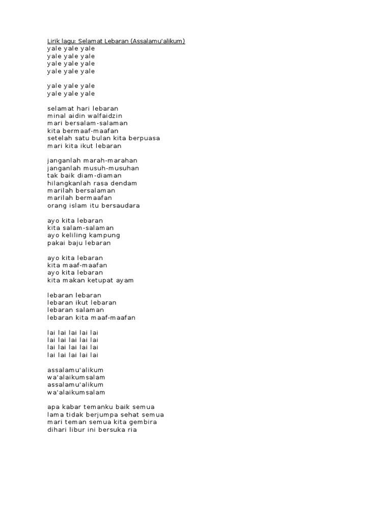 Lirik Lagu Halal Bihalal