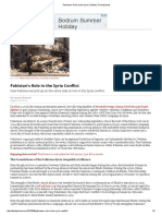 Pakistan's Role in the Syria Conflict.