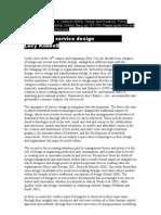 El giro hacia el Diseño de Servicios