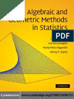 155492139 Algebraic and Geometric Methods in Statistics
