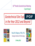 Geotechnical Site Exploration in the Year 2012 and Beyond