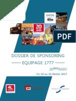 Dossier Sponsoring - 4L Trophy - Equipage 1777