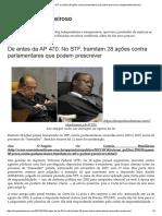 De Antes Da AP 470_ No STF, Tramitam 28 Ações Contra Parlamentares Que Podem Prescrever _ Bloglimpinhoecheiroso