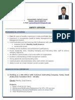 Mohd Parvez Khan Updated Cv