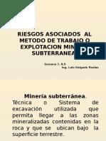 Riesgos Asociados Al Metodo de Explotacion Subterranea y EPPS