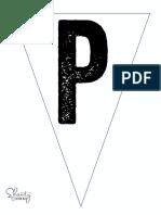 Print Letter P Banner