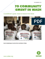 Guide to Community Engagement in WaSH
