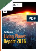WWF LivingPlanetReport 2016 Kurzfassung