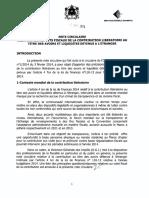 Note_Circulaire_LF_N°_110_13_2014_Aspects_Fiscaux_Contribution_Liberatoire