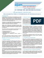 Conservação microrganismos